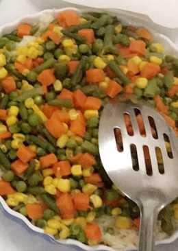 ارز بالخضار ✨ طبق سريع صحي ✨