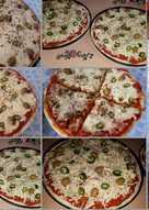 بيتزا 🍕 الجبن مع الفلفل 🌶 والزيتون 🍕
