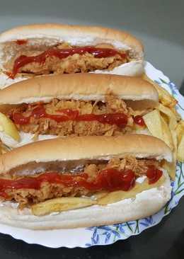 ساندويتش ستربس حار 🍗🍟