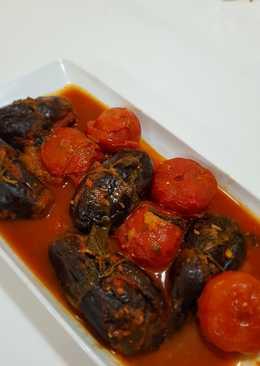 محشي الباذنجان والطماطم على الطريقة التركية لاصحاب الذوق الراقي