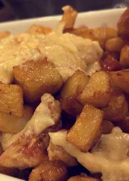 البطاطا بالدجاج و الجبنه