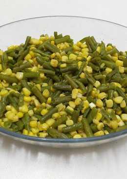 سلطة الفاصولياء الخضراء و الذرة الصفراء