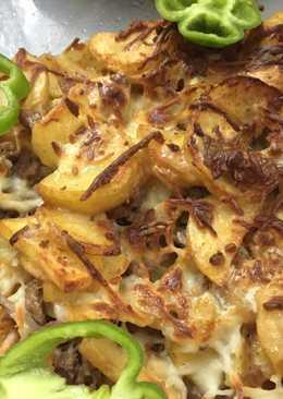 طريقة عمل صينية بطاطس بالجبن والبيض