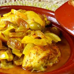 طريقة عمل طاجن دجاج بالزيتون