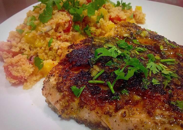 وصفة طبخ سمك السلمون المقلي