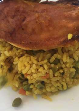أرز مع الجزر والبزيلاء