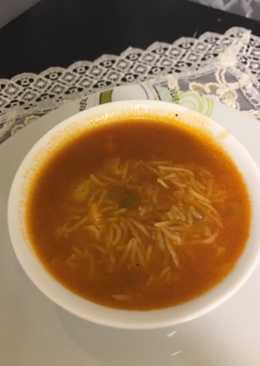 شوربة الأرز بقطع الدجاج 👍