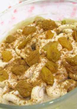 بودينغ الموز بكريمة الموكا (حلى دايت بدون سكر) من مطبخ ماجد