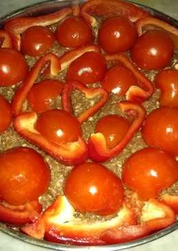 اللحمة بالصينية مع الفليفلة الحمراء