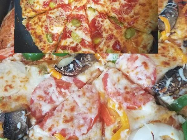 بيتزا بالجبنة🍕بيتزا بالخضار