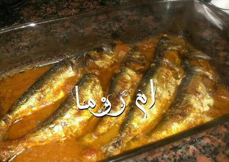صينية سمك سردين بطريقتي 🐟🐟