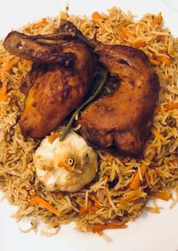 ارز بخاري بالدجاج