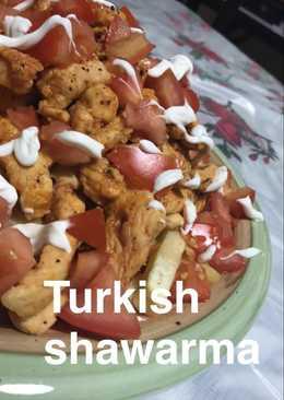 شاورما دجاج بالطريقه التركيه