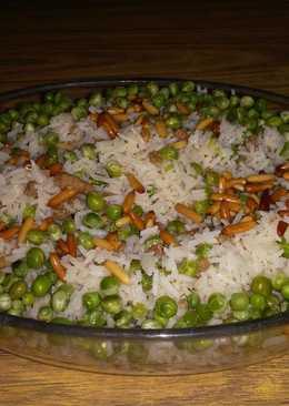 الأرز بالبازلاء بطريقتي