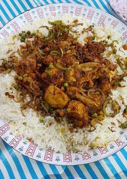 دجاج بالصوص وأرز بالكشنة