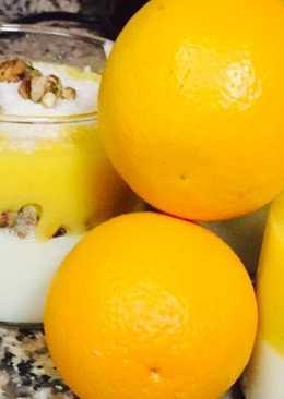 مهلبية الحليب والبرتقال
