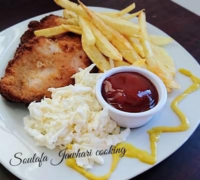 اسكالوب الدجاج البيتي 😍 طبعاً شعاري دائماً الاكل البيتي افضل