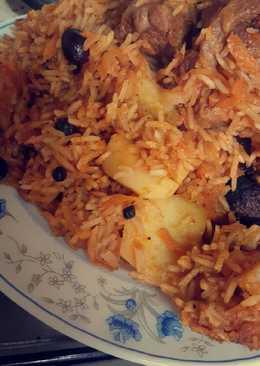 ارز بخاري بالبطاطس