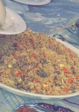 ارز صيني بالخضار والبيض