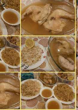 دجاج مسلوق (فخدة ورز)