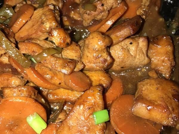 دجاج صيني بالصويا والليمون
