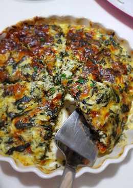 # اكلات_للعشاء كيش السبانخ بالجبنة