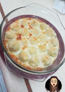 كرات البطاطس بالدجاج والكريمه