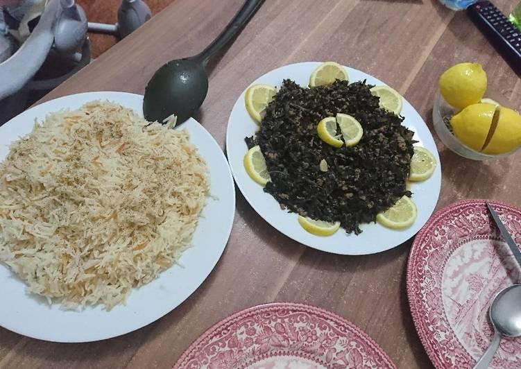 ملوخية ورز 😍😍