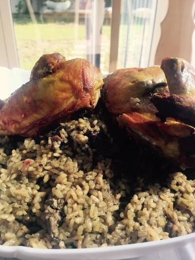 خلطه الرز بقوانص وكبده الدجاج