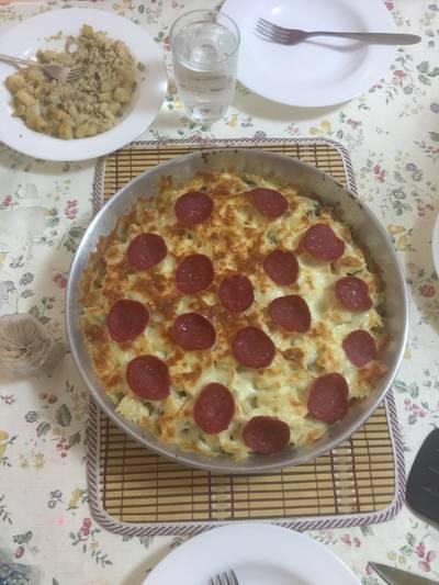بيتزا معكرونة مع بيبروني