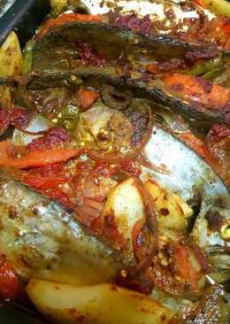 # اكلات _ للعروس صينية السمك بالبطاطس