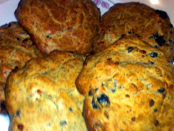 عمل الخبز بالزيتون