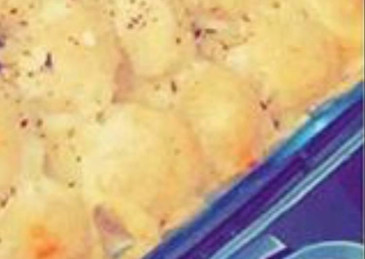 صينية الخضار و اللحم المفروم بِ البطاطا المسلوقه
