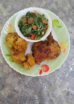 دجاج وزهرة بالفرن اكلة دايت رائعة