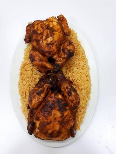 دجاج مشوي بالملح