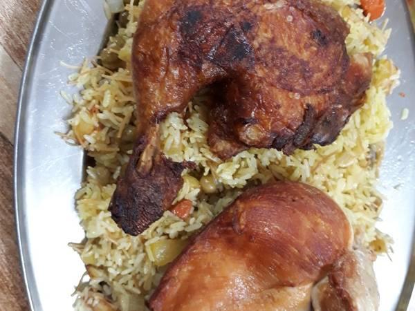 دجاج مقلي على رز 🍗
