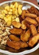 صدر دجاج مع البطاطا والقرنبيط