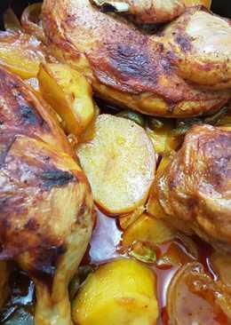 دجاج بالصينية مع البطاطا