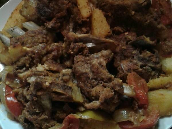 بورديم اللحم لحم مشوي