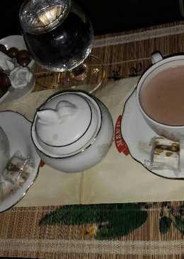 كابتشينو وحليب ☕تفضلو يسعد مساكم