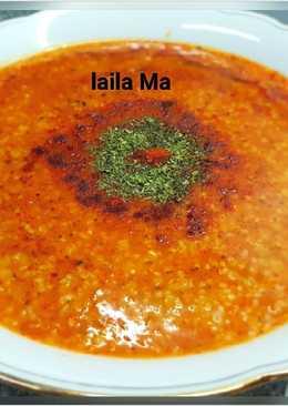 شوربة العدس التركية بالبرغل والارز