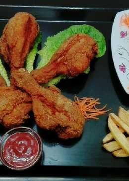 دجاج مقلي مقرمش #اكلات_عشاء