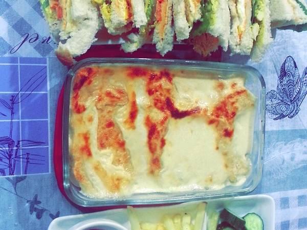 صينية توست با الجبنه #ملك -الجبنه