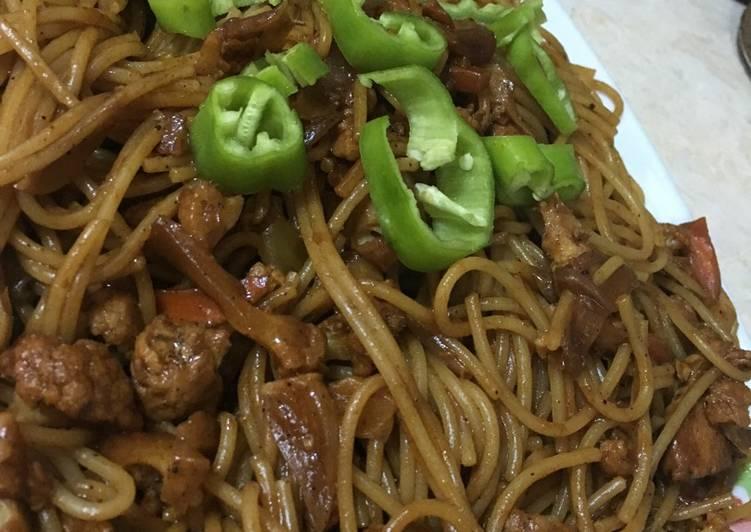 مكرونه صينيه لذيذة 😋