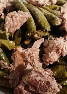 ورق عنب 🍇 مع اللحم بعضمو ☺😋