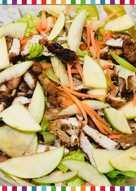 سلطة الدجاج مع تفاح أخضر و جزر 🥕🍏🍗😋