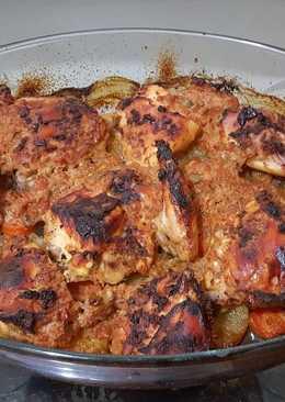 صينية دجاج مشوي بالفرن 🍗🍗