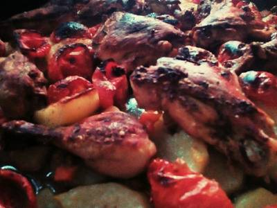 صينية دجاج وبطاطا بالفرن 👌