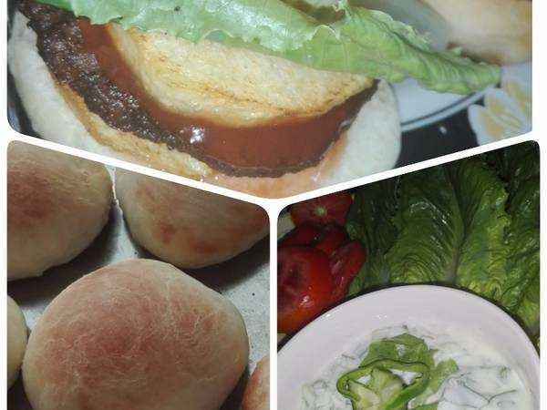 خبز الهمبرجر البيتي(وصفة ناجحة جدا)