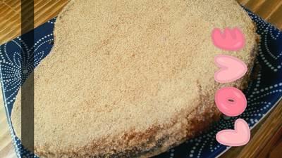 كيكه الرمل لذاذه😴